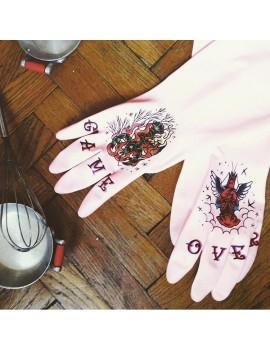"""TrueGlove """"M"""" Размер, Белые полу-плотные перчатки из Нитрила"""