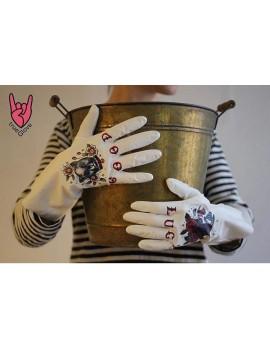 """TrueGlove """"S"""" Размер, Белые полу-плотные перчатки из Нитрила"""
