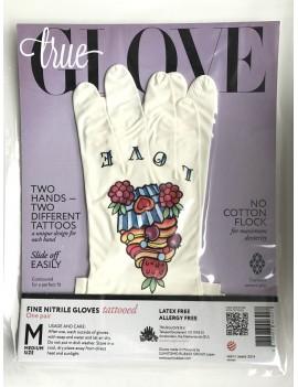 """TrueGlove """"L"""" Размер, Белые полу-плотные перчатки из Нитрила"""